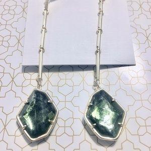 Kendra Scott Charmian Gold Drop Sage Mica Earrings